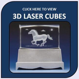 3D Crystal Laser Etched Cubes