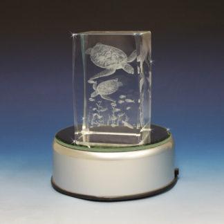 Friendship Poem 3D Glass Laser Cube