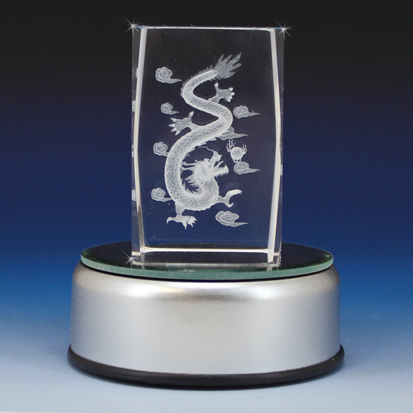 3d Crystal Chinese Dragon Laser Engraved Glass Gallery