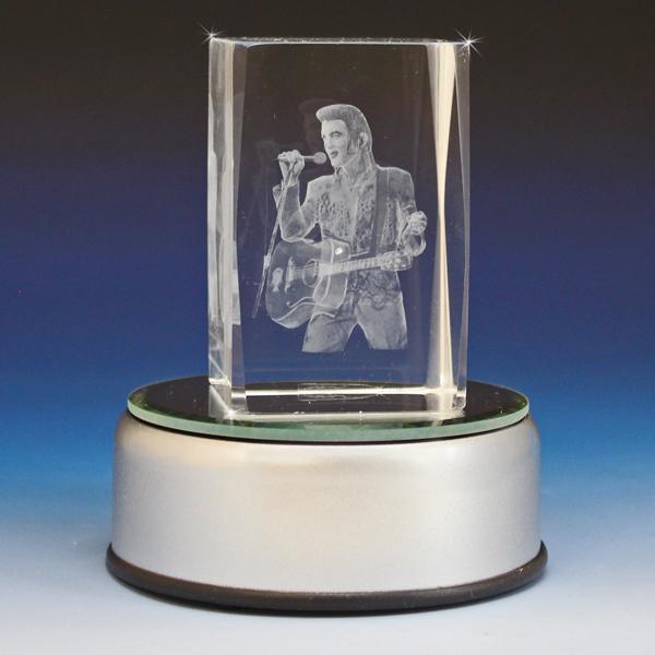 3d Crystal Guitar Man Laser Engraved Glass Gallery
