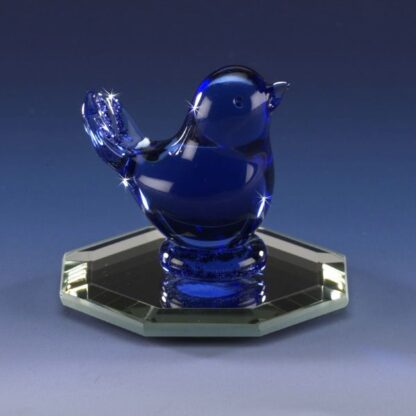 Hand Blown Glass Bluebird of Happiness