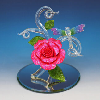 Blown Glass Art Glass Dragonfly Figurine