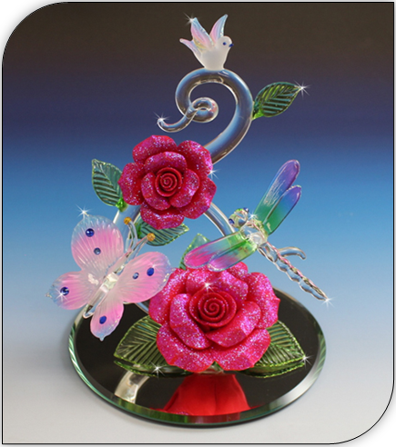 blown glass gifts featuring love and romance selection