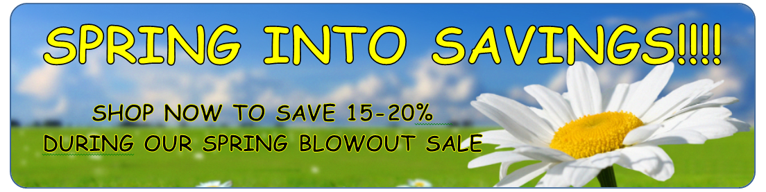Glass Gallery spring blowout sale. Save 15% - 20% sitewide