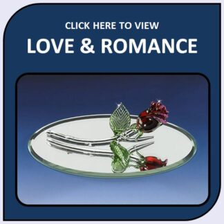 Love and Romance Blown Glass and Crystal Figurines