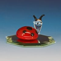 Blown Glass Art Glass Ladybug Figurine