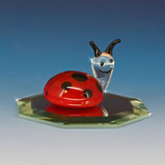 Blown Glass Art Glass Ladybug Figurine