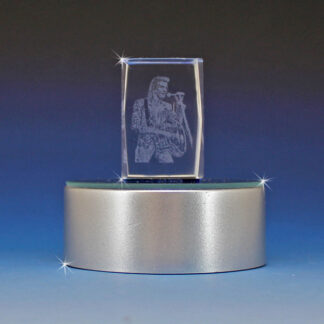 3D Laser Etched Crystal Music Entertainer