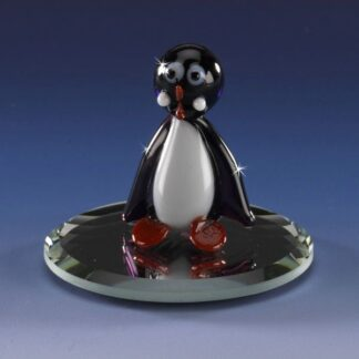 mini blown glass penguin animal figurine