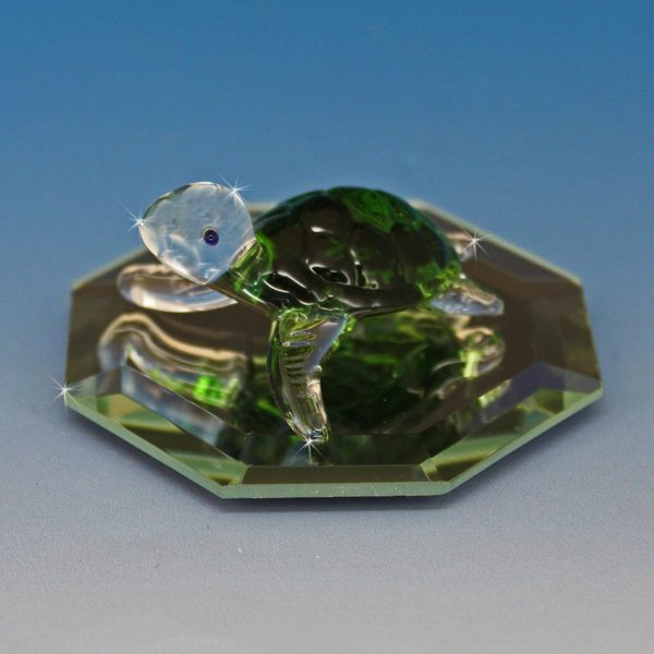 Hand Blown Glass Turtle Figurine