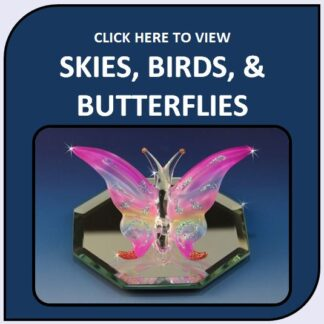 Skies, Birds, & Butterflies Blown Glass and Crystal Figurines