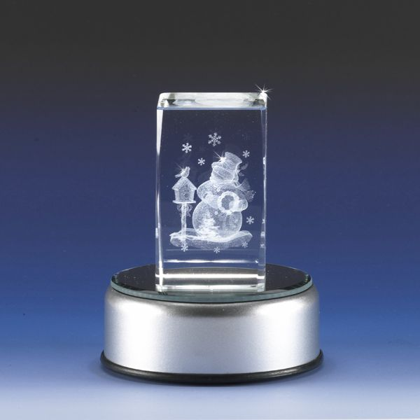 3d Laser Engraved Crystal Snowman Glass Gallery