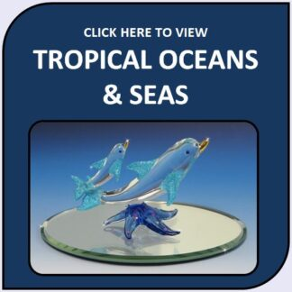 Tropical Oceans & Seas Blown Glass and Crystal Figurines